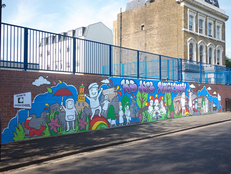 We are hackney mural for Community mural
