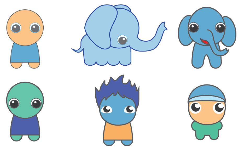 Cartoon Baby Animals And Stuff