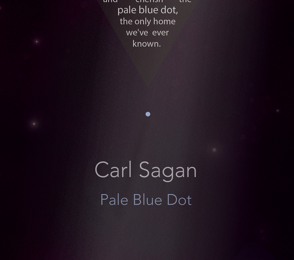 pale blue dot essay The pale blue dot by paul williams pops sat on the little balcony of his 5th floor apartment downtown one night looking at the mysterious windows in the.