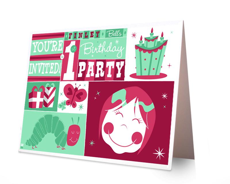 1st Birthday Logo 1st Birthday Card