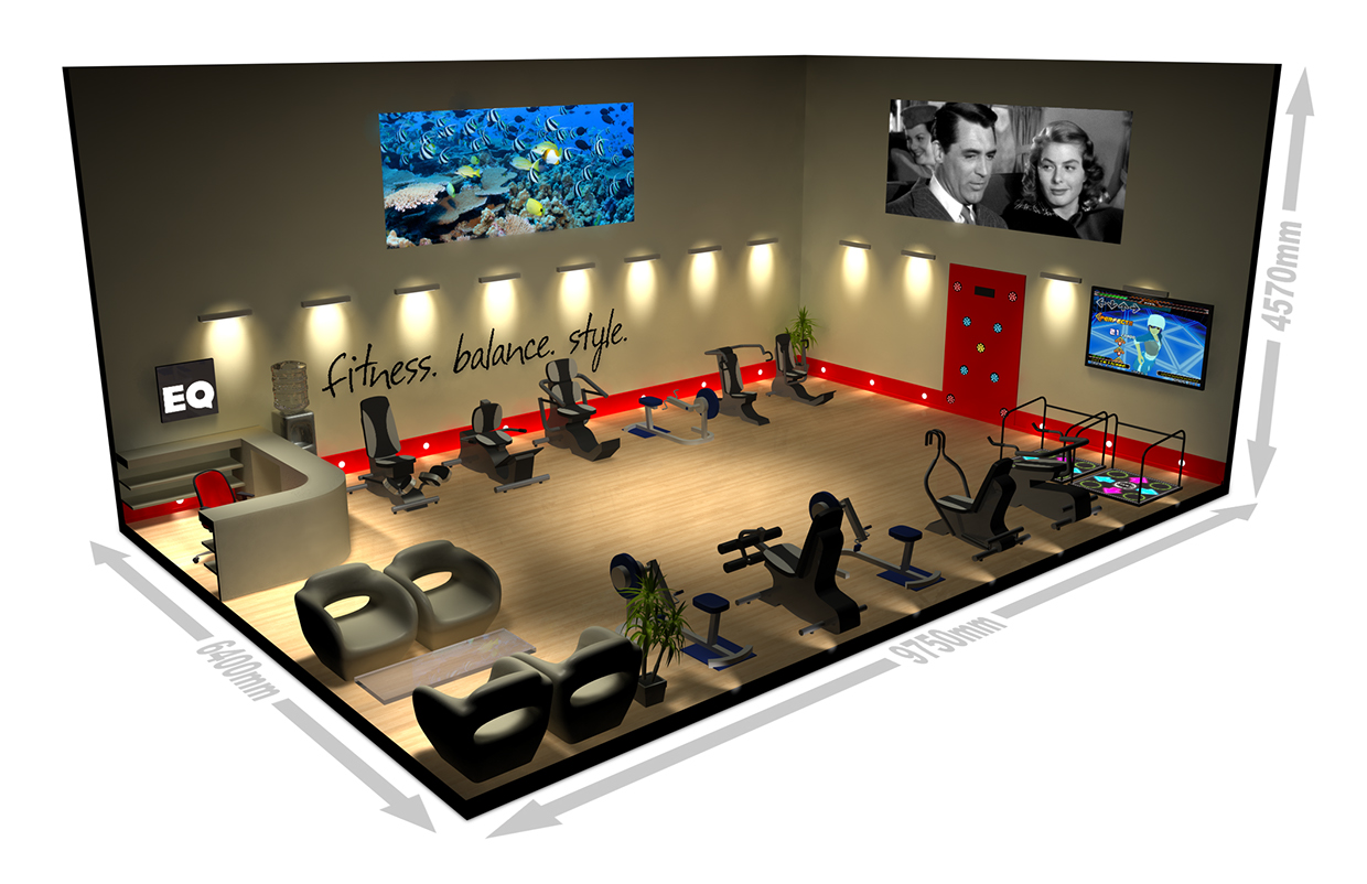 3d model for gym proposal