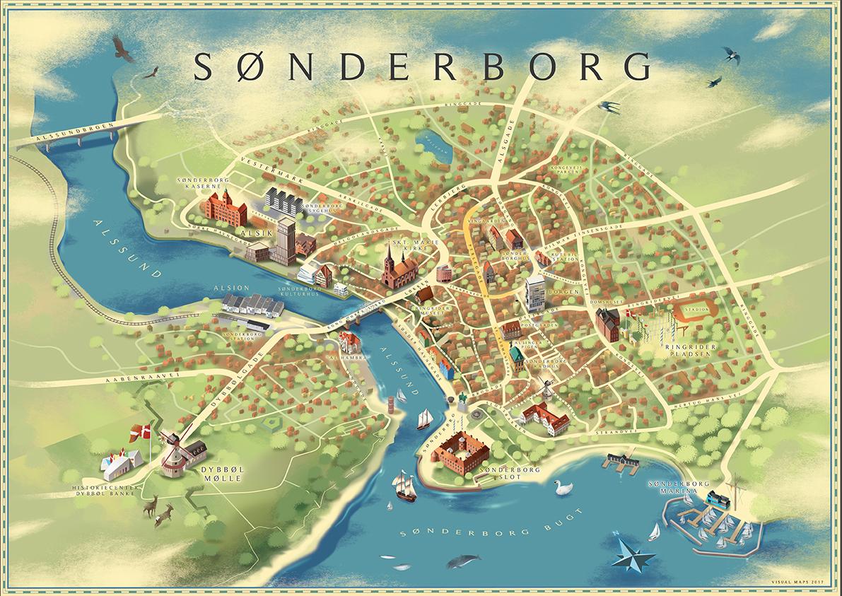 Snderborg city map on Behance