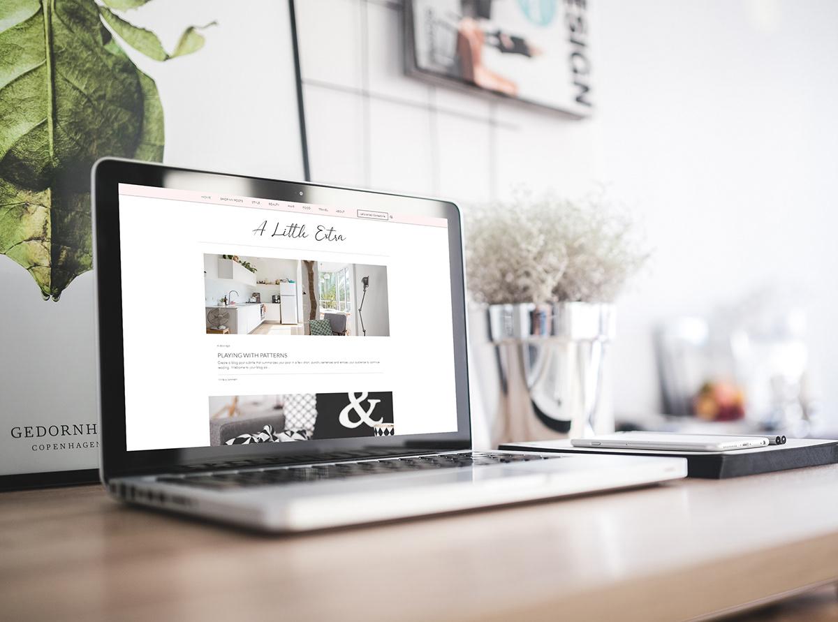 Fashion blog design