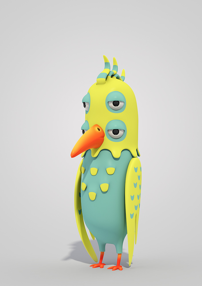 3d Character Design Behance : Pets and monsters on behance