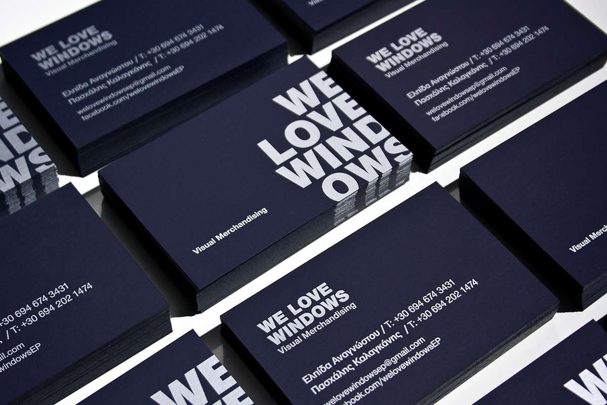 WE LOVE WINDOWS business card on Behance