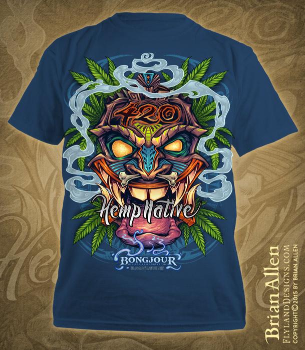 319393bf Tiki Man Hemp T-Shirt Design on Behance