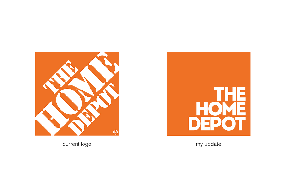 THE HOME DEPOT REBRANDING CONCEPT On Behance - The home depot logo