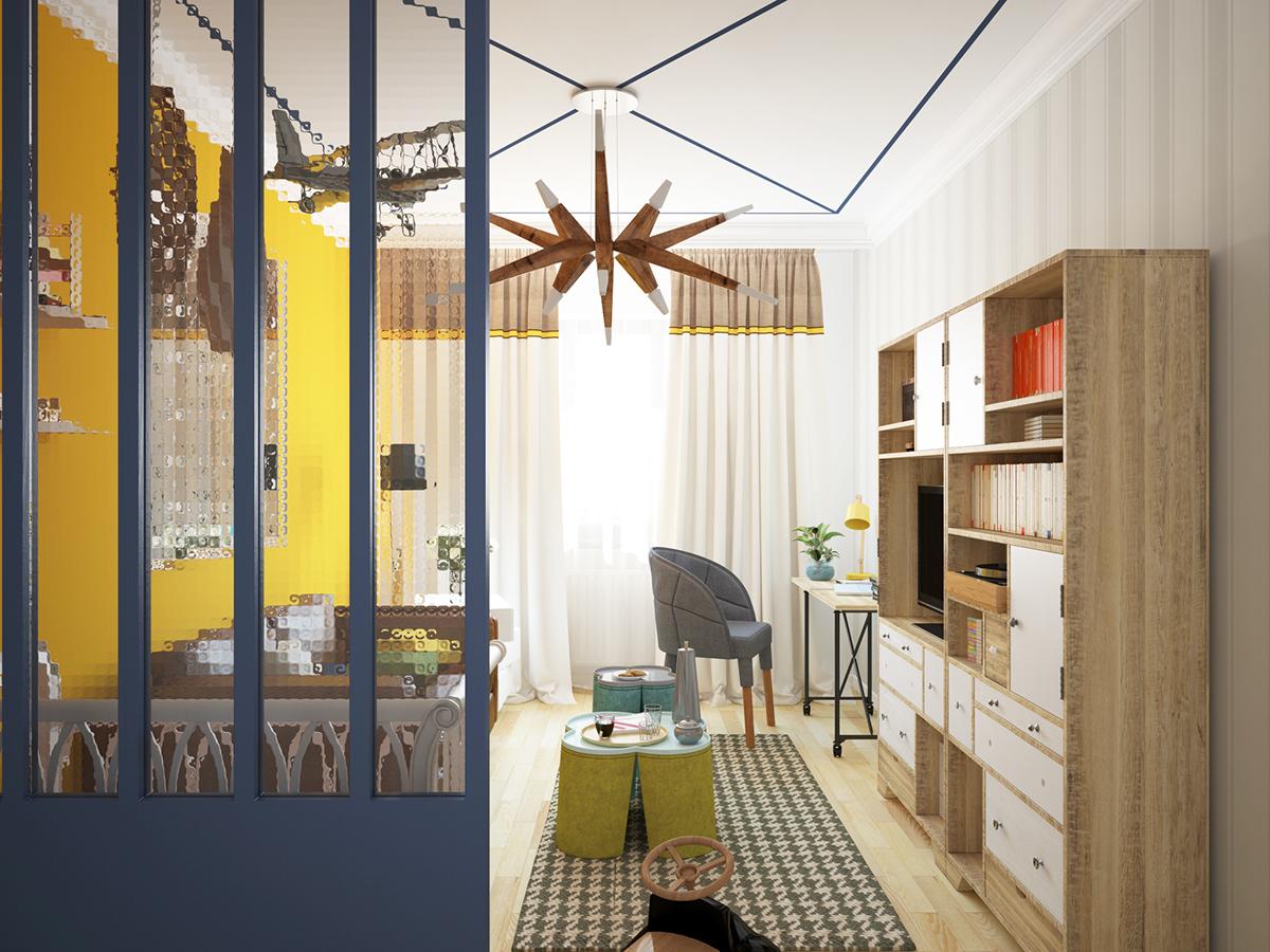 Fajno fajnodesign  design Interior story toy wood kitchen интерьер Brest belarus moskow