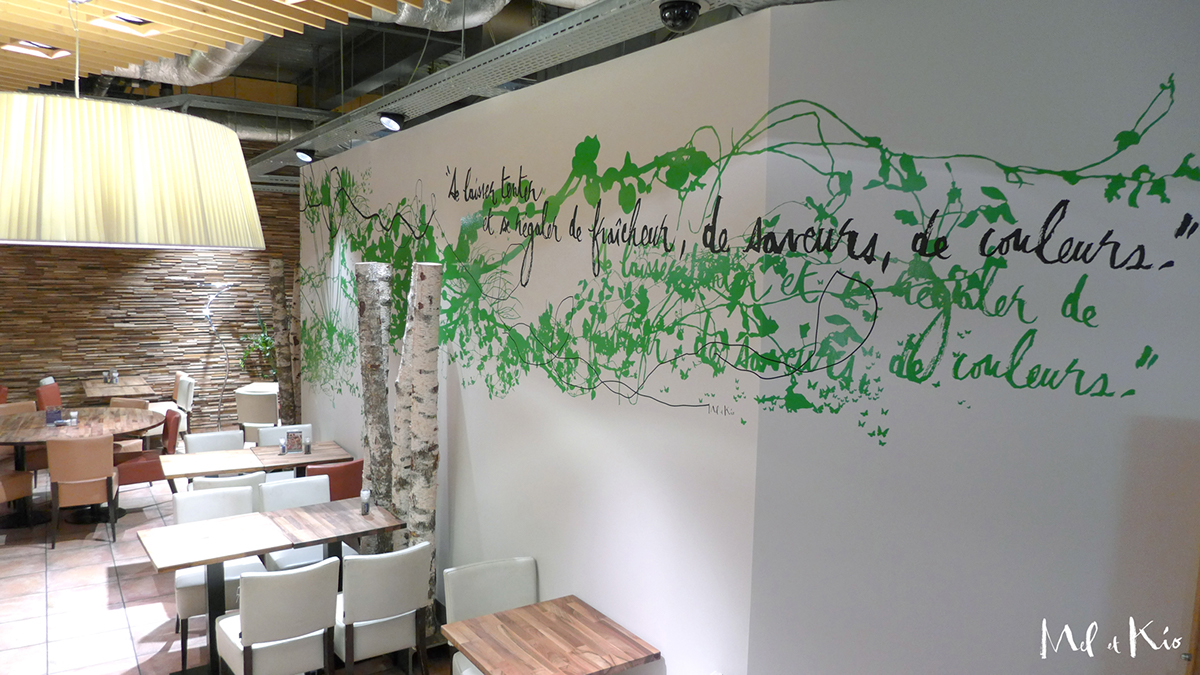 mel et kio meletkio design mural Art mural geneve Manora Manor
