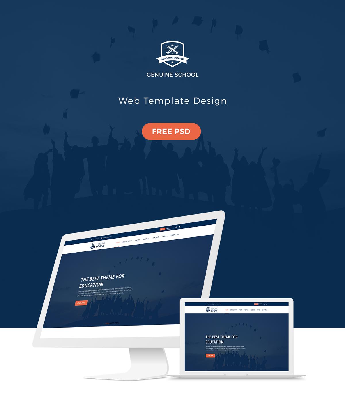 Genuine School Web Template Free Psd Download On Wacom Gallery