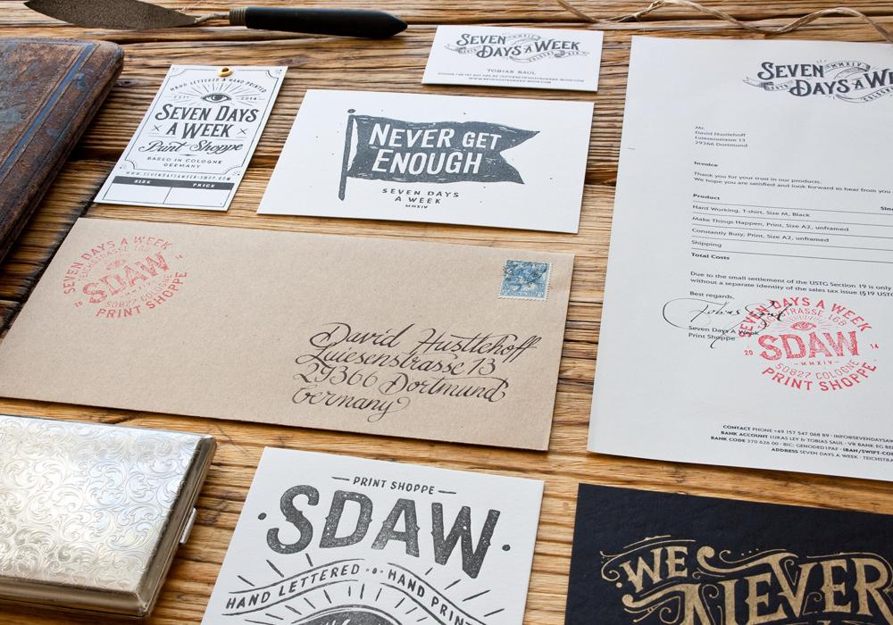 Handlettering lettering craft vintage t-shirt poster printshop printart