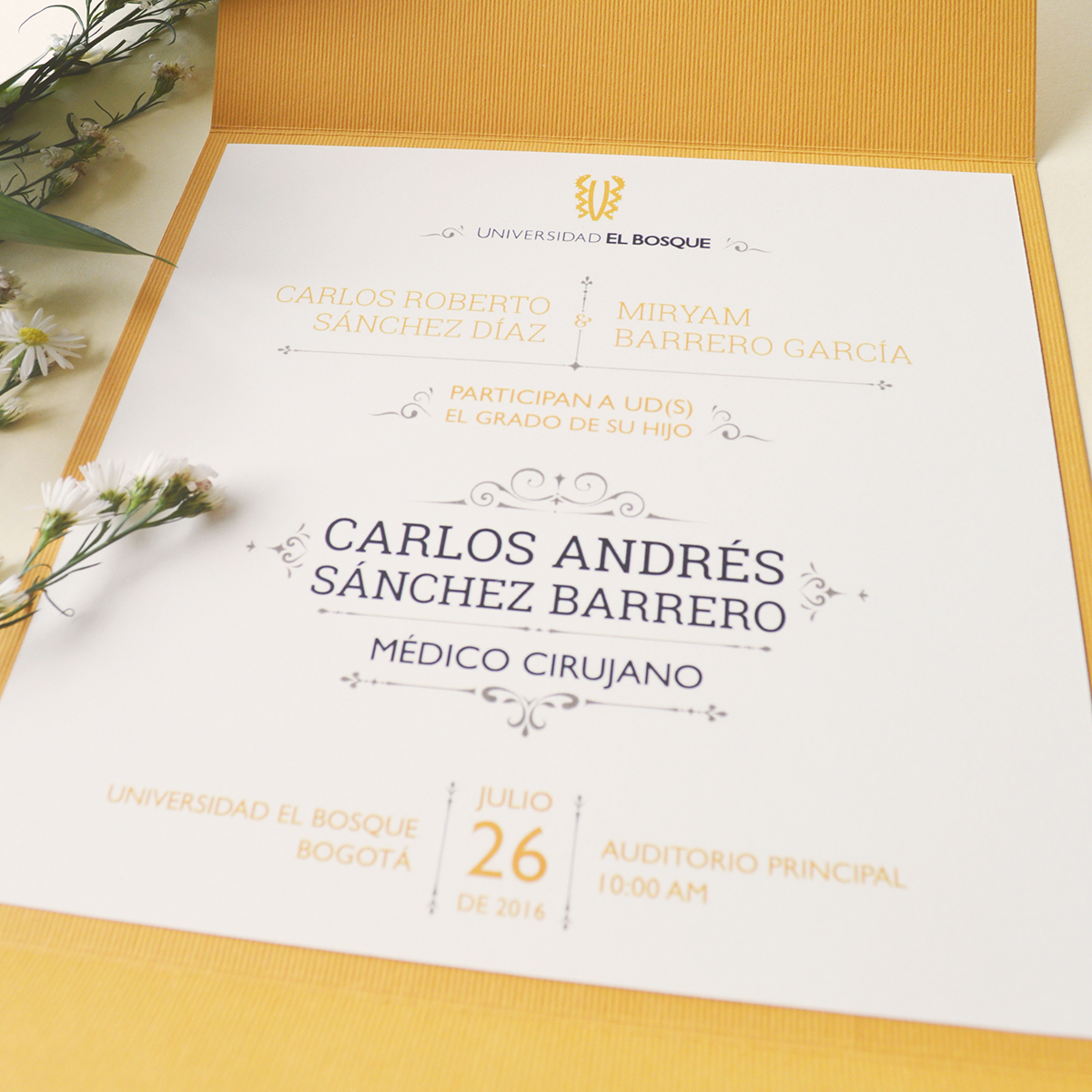 Grado Invitaciones On Behance