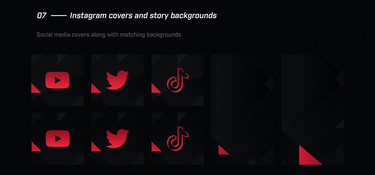 Esports Rebrand livestream designs livestream graphics logo Overlay Rebrand rebranding Twitch Designs Twitch Graphics twitter header