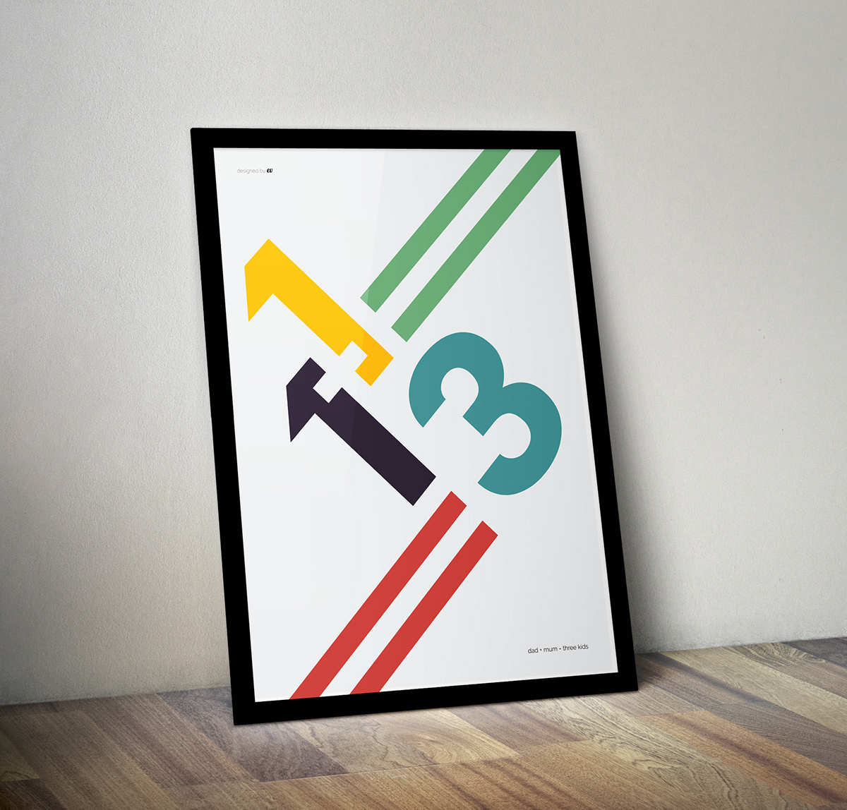 poster Retro print numbers Poster Design art graphic design  Minimalism