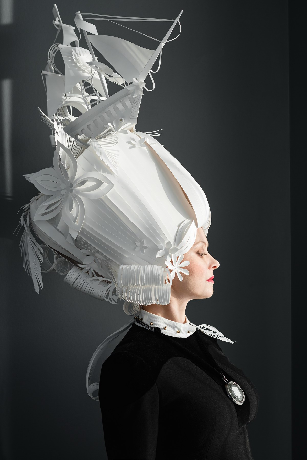 wigs paper papercut cutting paperart hair hairstyle baroque