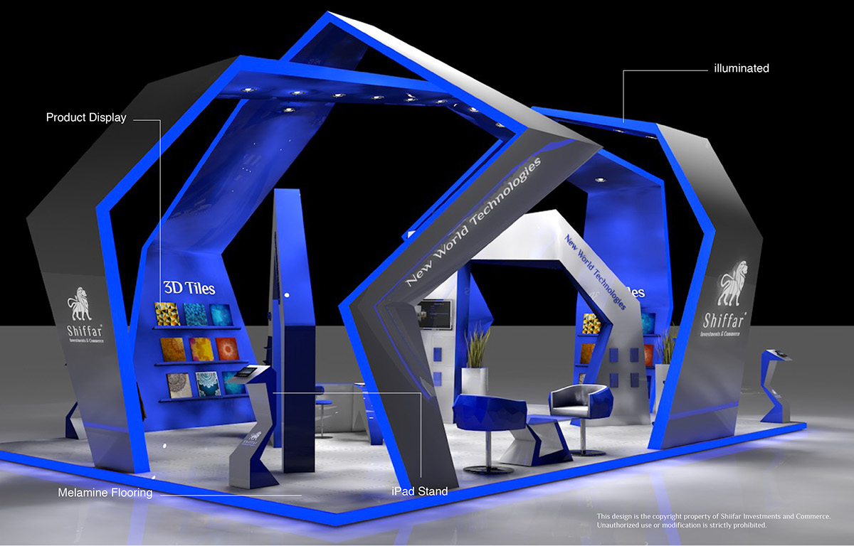 Exhibition Stand Futuristic : D exhibition booths on behance