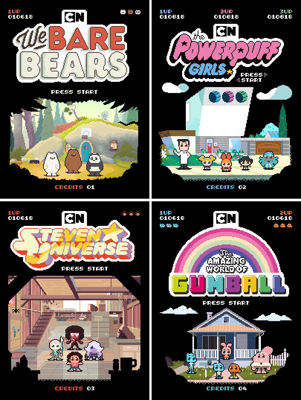 cartoon network illustratore 2d Illustration 2D Animation animated gif pixel artist Pixel art 8bit nerd Cartoons