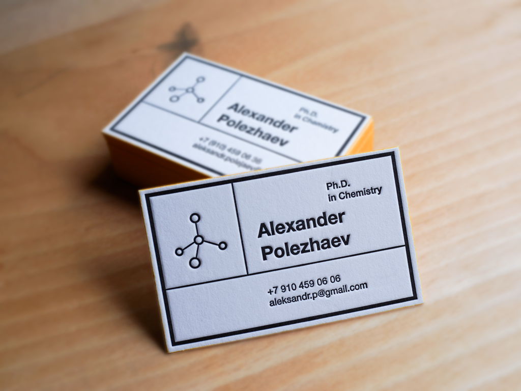 Business card for chemist on behance minimalistic design of chemist business card reminds label on bottles of different chemical elements icon molecules immediately makes it clear who is its colourmoves