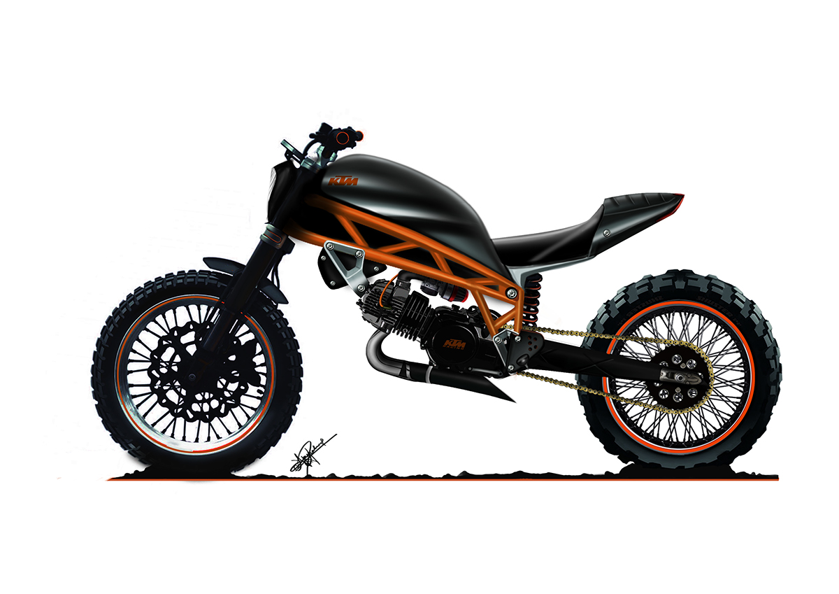 ktm or husqvarna scrambler 125 what do u think on behance. Black Bedroom Furniture Sets. Home Design Ideas