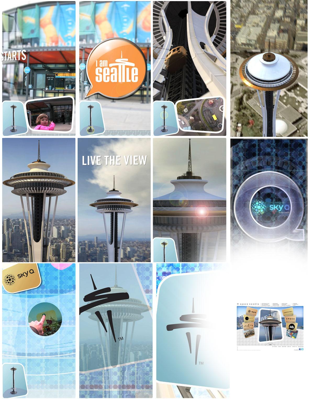 Adobe Portfolio The Space Needle sky q o deck north plaza