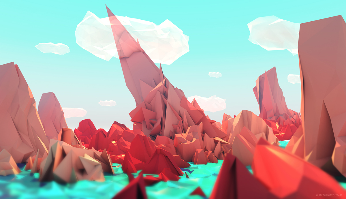 Top Low Poly Art on Behance WJ99