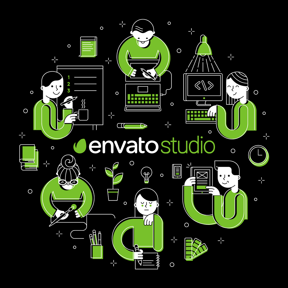envato studio t-shirt on behance, Powerpoint templates