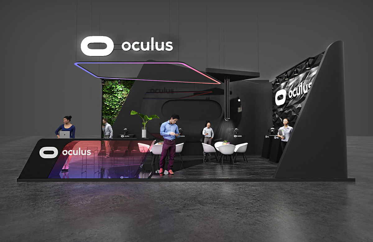 Exhibition Stand Behance : Oculus exhibition booth on behance