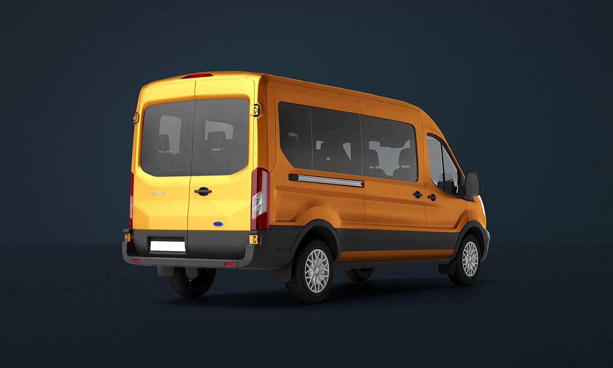 passenger van mock up ford transit on behance. Black Bedroom Furniture Sets. Home Design Ideas