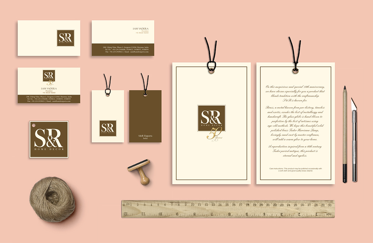 A Complete Stationery Designed For Su0026R Home Decor As Well As Many Other  Collaterals Were Designed For It 50th Anniversary Event