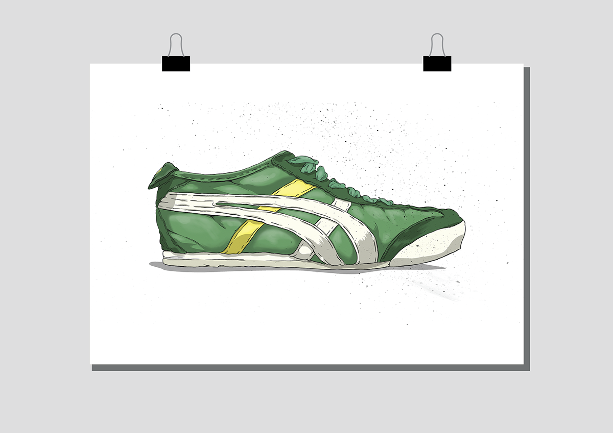 inking color print sneakers