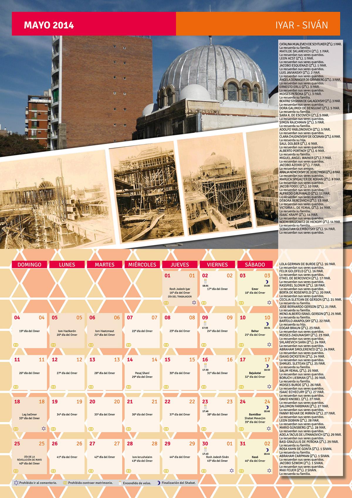 calendario hebreo 5774