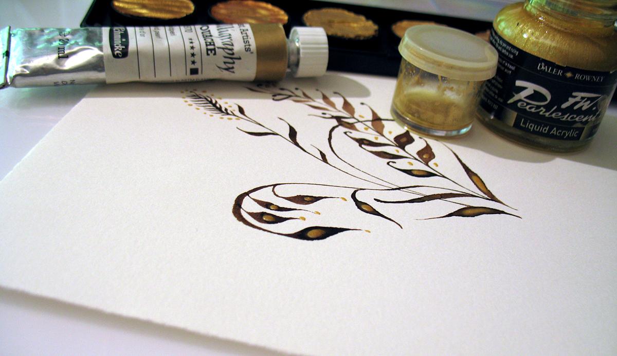 Online Calligraphy Class Organic Pen Ornaments On Behance