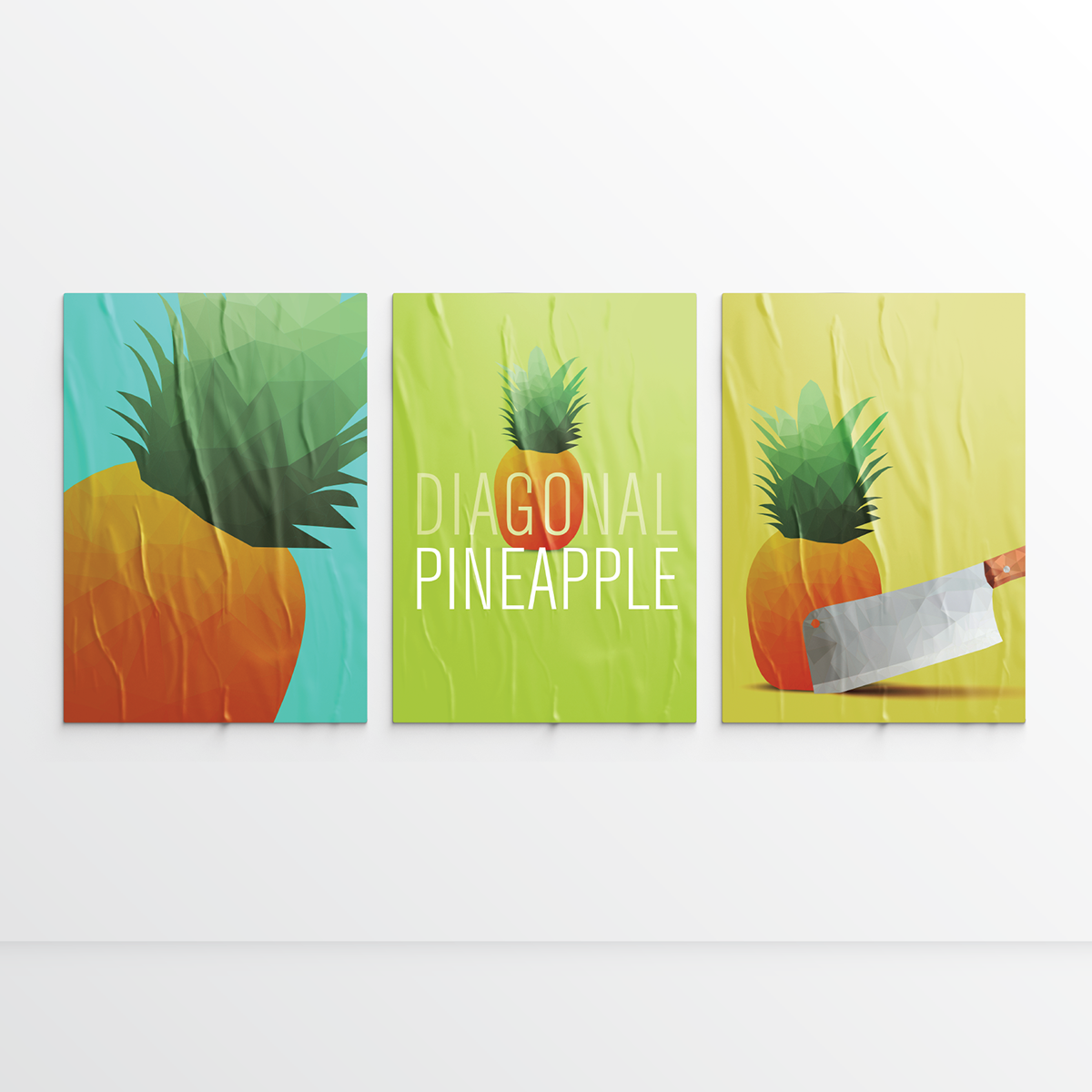 Pineapple Low Poly ILLUSTRATION