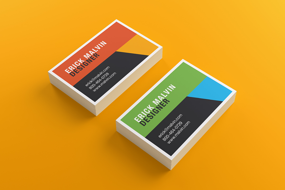 Business Cards Mock-up (8.5x5.5 cm) on Behance