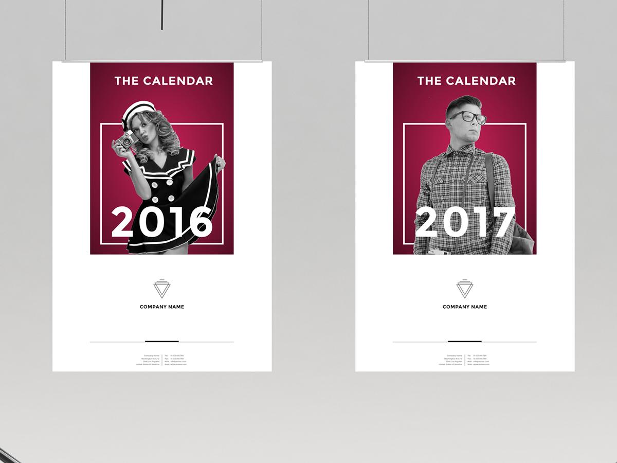 calendar 2016 and 2017 on behance. Black Bedroom Furniture Sets. Home Design Ideas