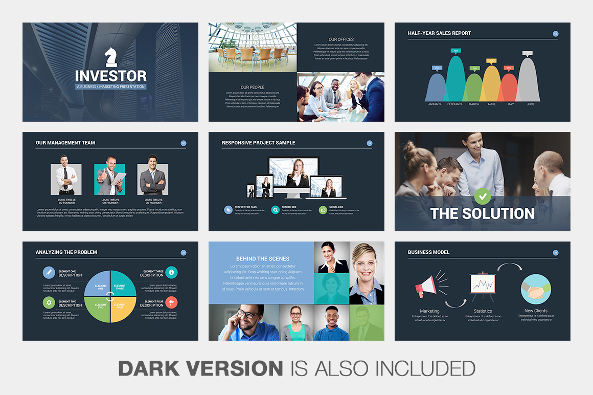 investor pitch deck powerpoint template on behance, Presentation templates