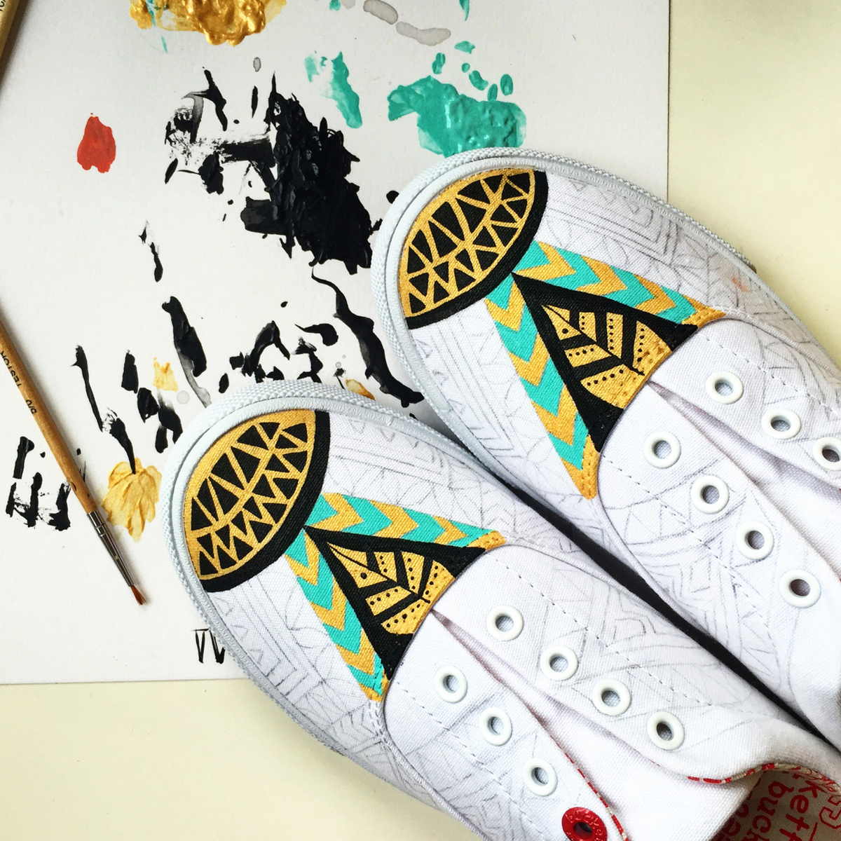 775e56ef758d95 My 2nd Custom Bucketfeet Shoes on Behance