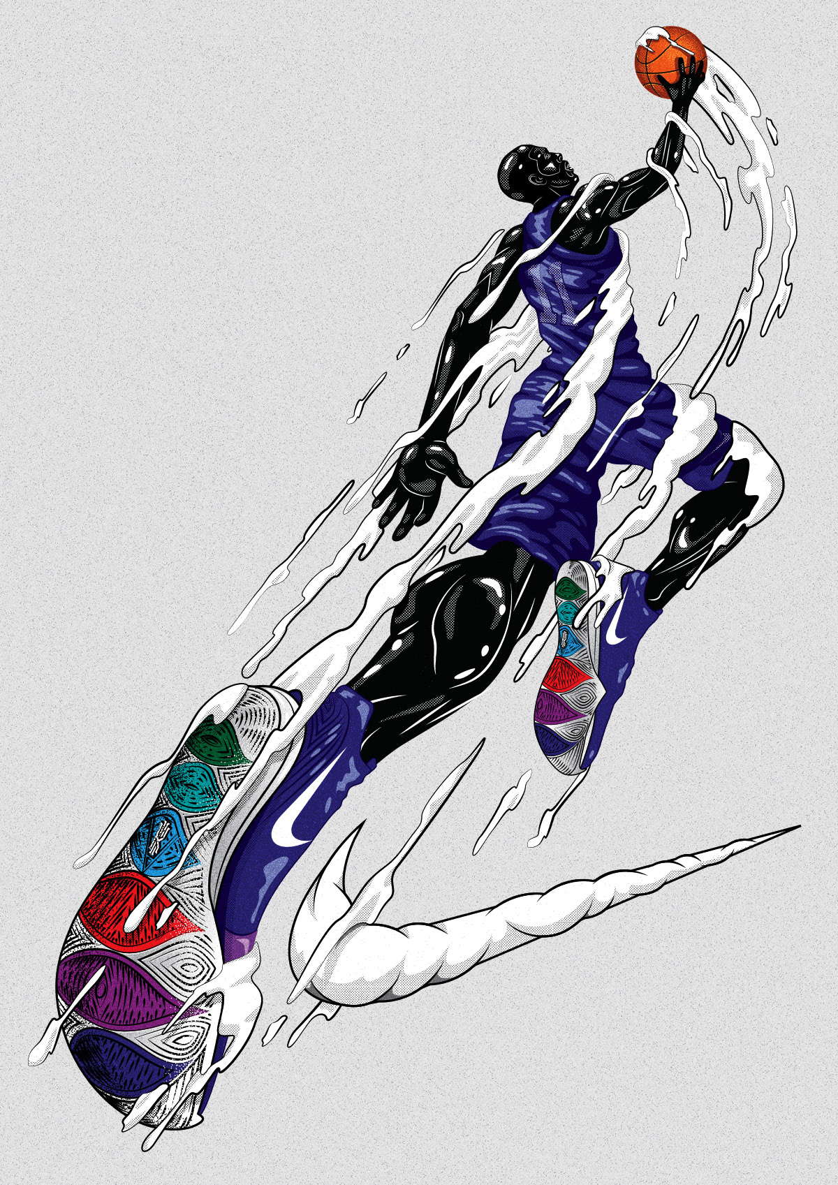 d0d62f49a Illustration series for Nike Kyrie 5 shoes's launched campaign in Shanghai.  The concept for these t-shirt artworks was inspired by unique and  fascinating ...