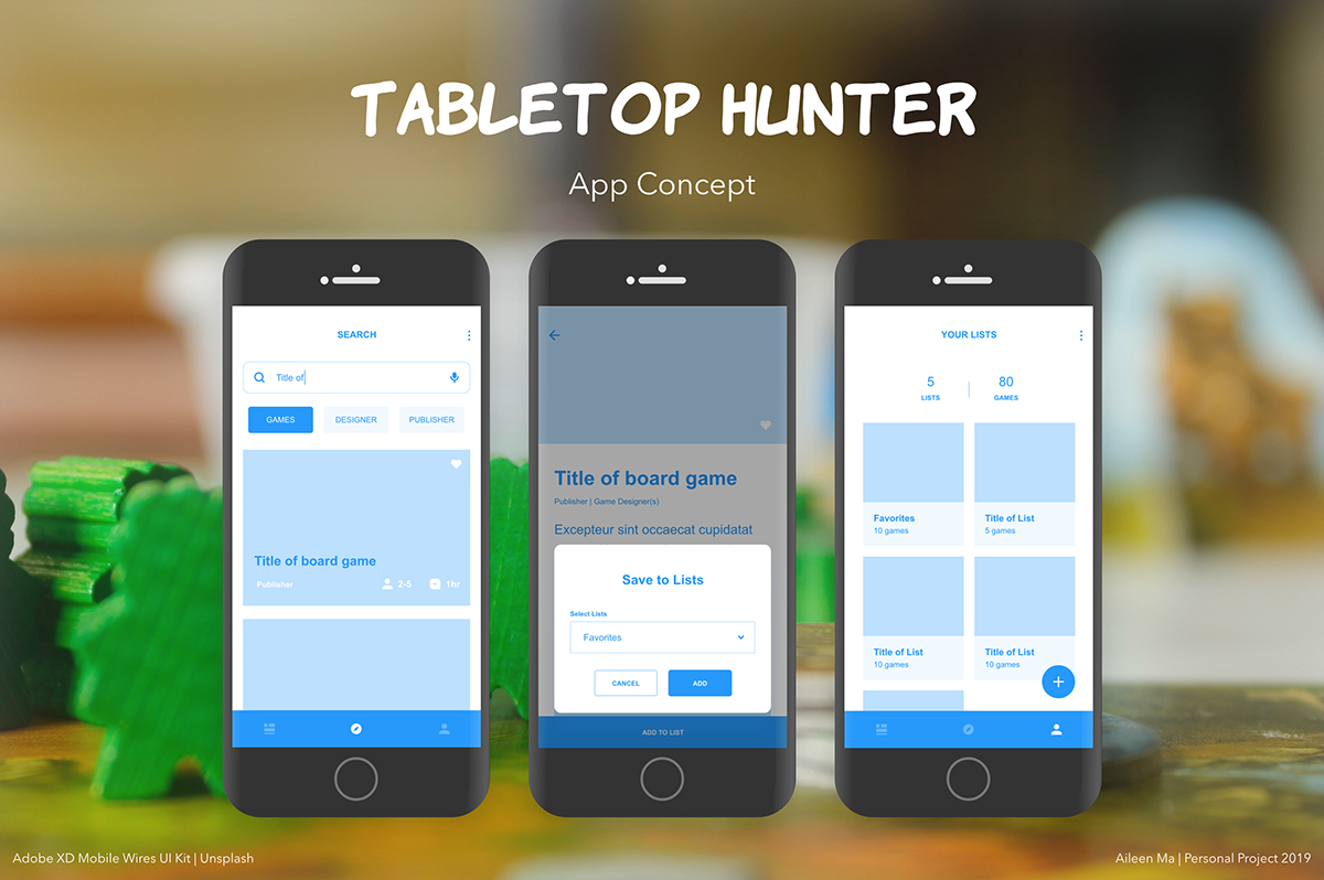 Tabletop Hunter App Concept | Early 2019 on AIGA Member Gallery