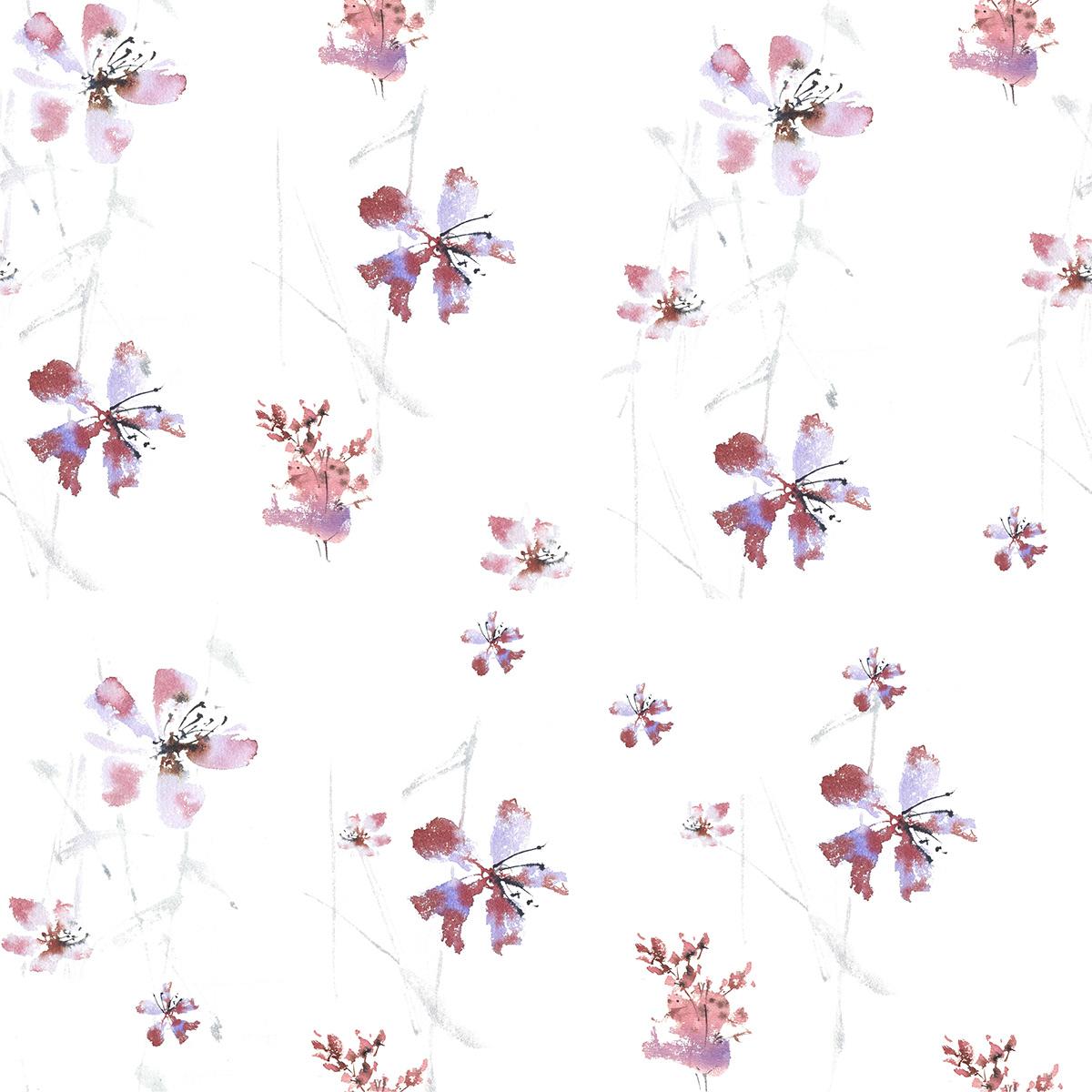 artist botanic creative Flowers ILLUSTRATION  Illustrator pattern watercolor