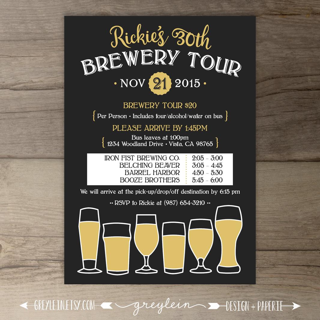 Brewery tour birthday invitations on behance stopboris Images
