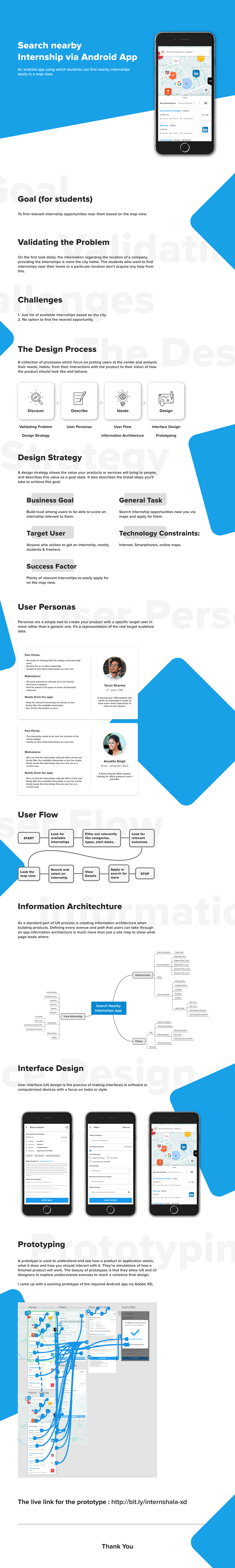 UI UX Design | Internship via Map App on Student Show
