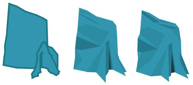 The Aqualith logo in blue, taking shape in Adobe Illustrator.