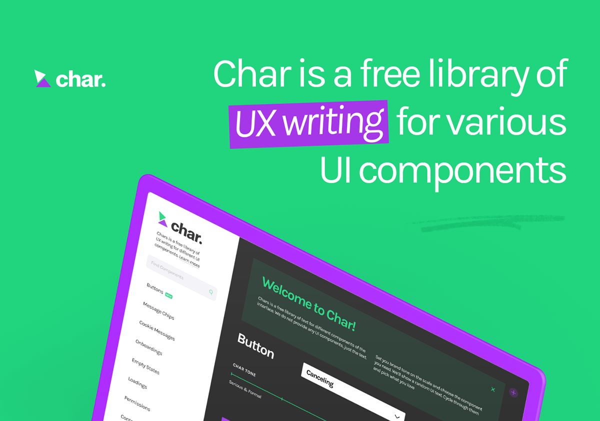 Char — UX Writing Generator Website on Pantone Canvas Gallery