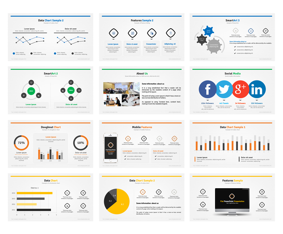 Flat powerpoint presentation on behance toneelgroepblik Image collections