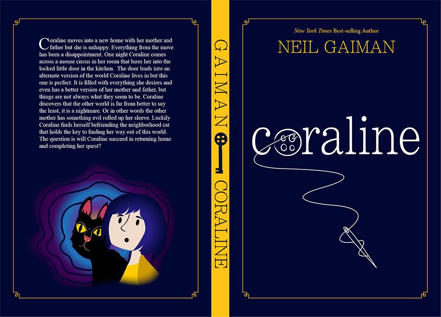 Coraline Book Jacket Design On Behance