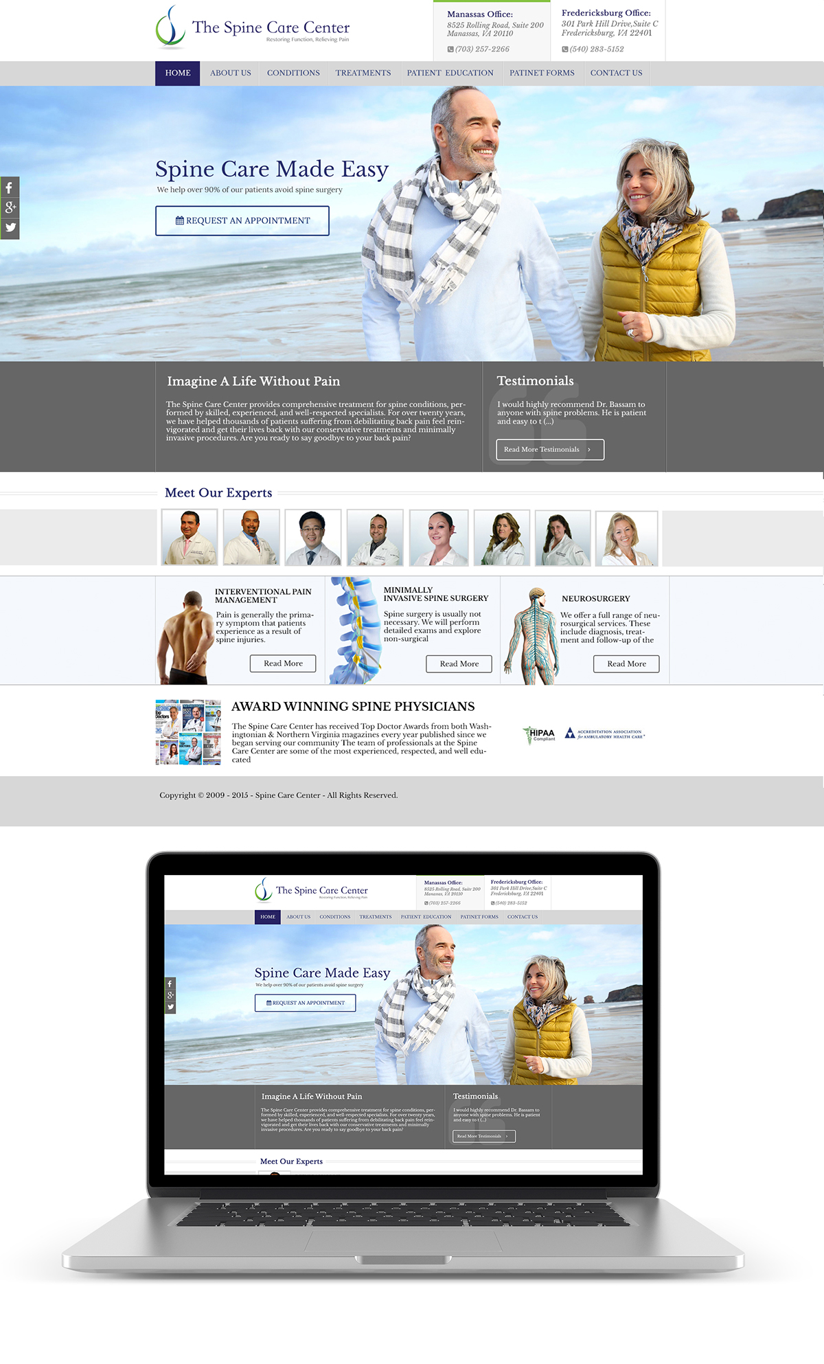 Spine Care Website Design on Behance