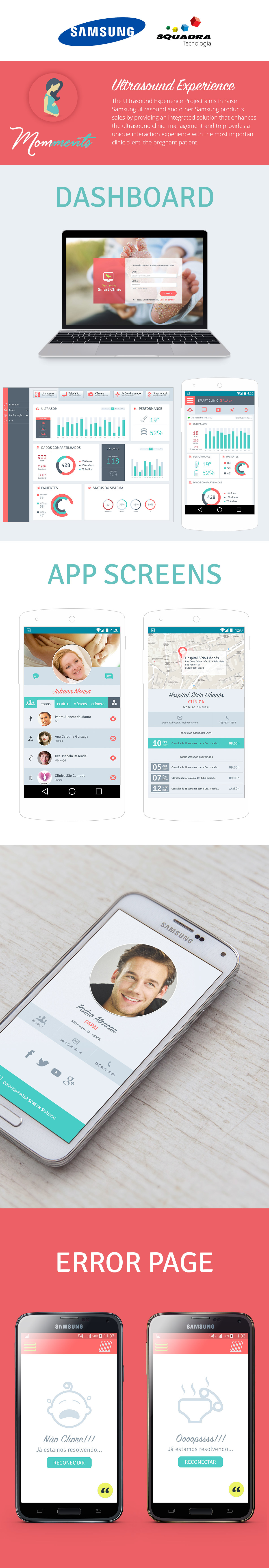 Samsung dashboard app pregnant baby mobile Ultrasound UI ux Experience