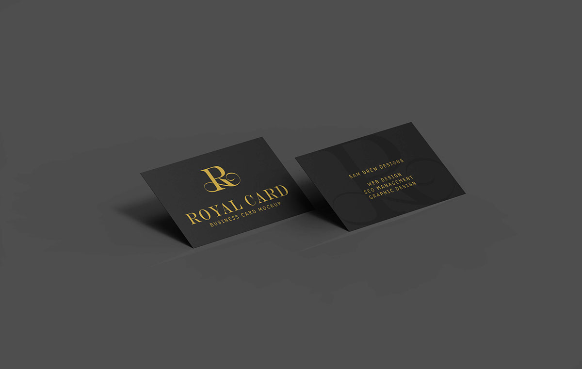 Free Black Business Card Mockup On Behance