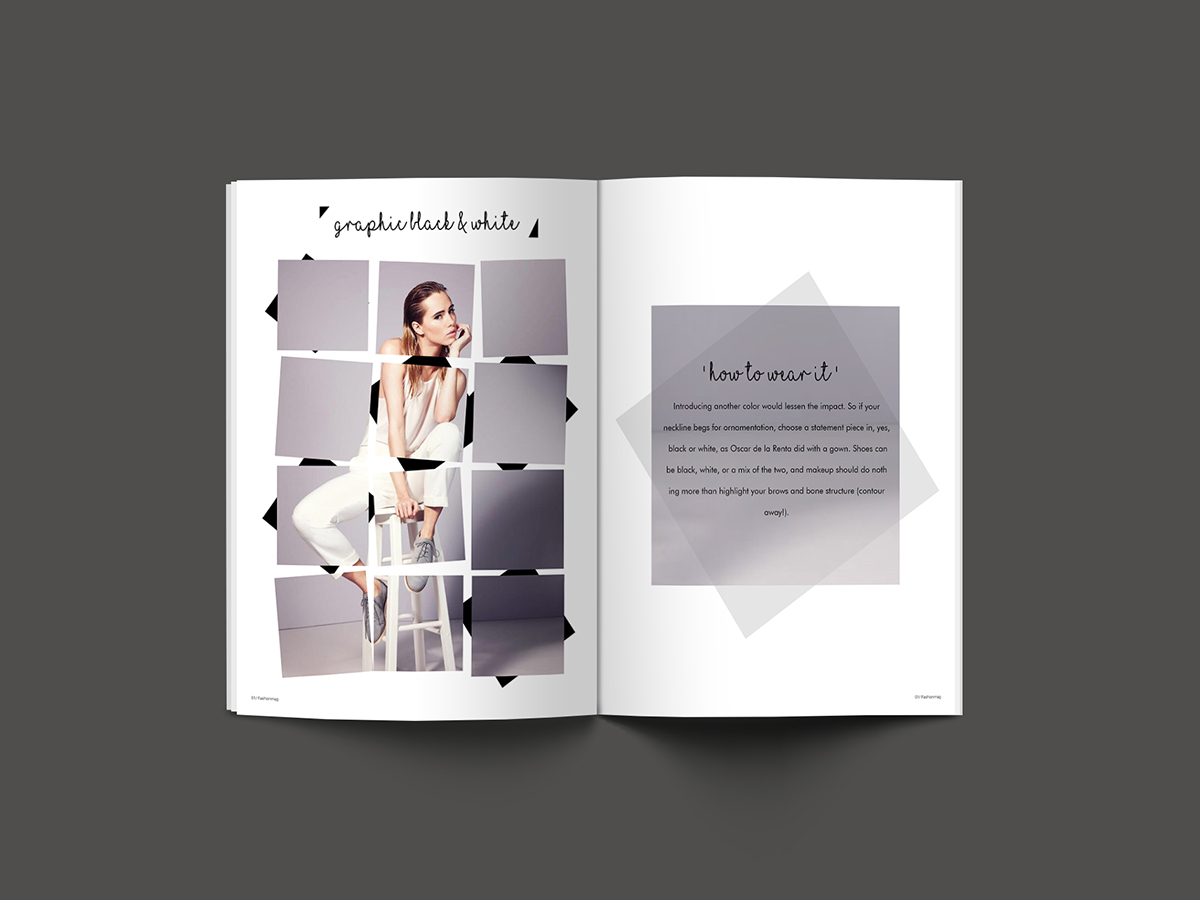 Fashion Magazine Layout On Behance